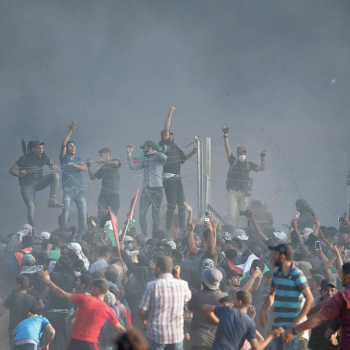 """מהומות על הגדר בסוף השבוע שעבר. """"לא תנצחו לעולם, אף פעם"""""""