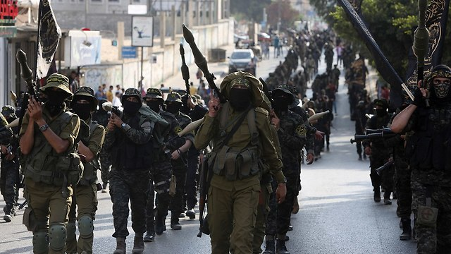 Al-Quds Brigades military parade in Gaza (Photo: AP)