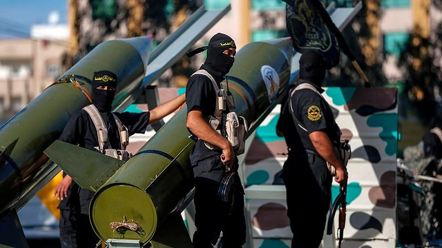 Al-Quds Brigades military parade in Gaza (Photo: AFP)