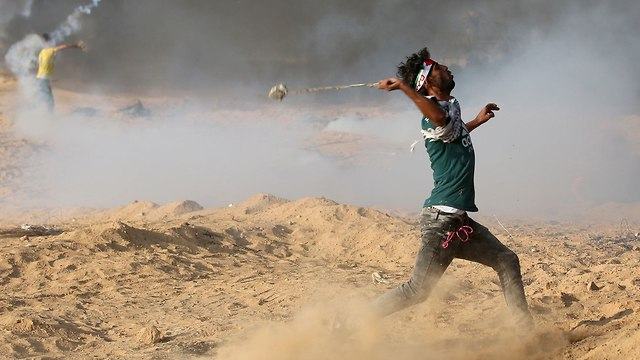 Gaza border riots (Photo: Reuters)
