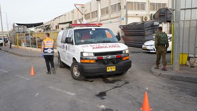 כוחות הצלה באזור תעשייה ברקן (צילום: הלל מאיר/ TPS)