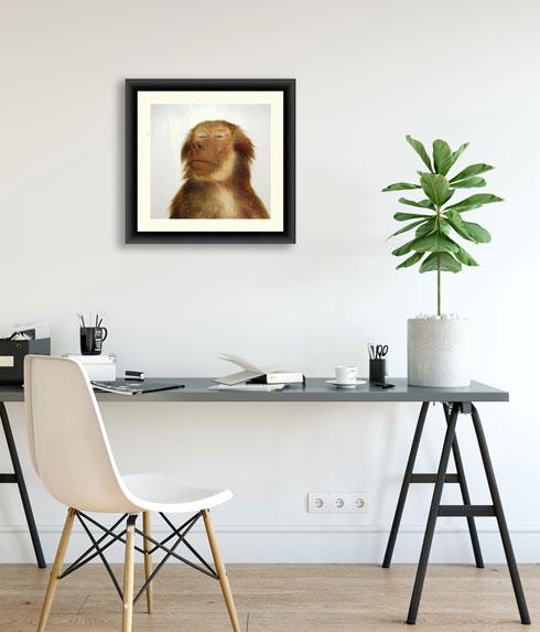 על הקיר, לדוגמה, צילום של James Balog, להשכרה ב-100 שקלים לחודש, באתר ArtLanders (צילום: גושה דמין)