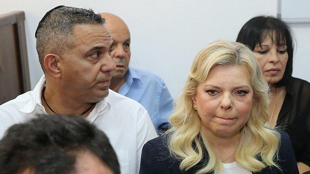 שרה נתניהו בית משפט השלום ירושלים (צילום: עמית שאבי)