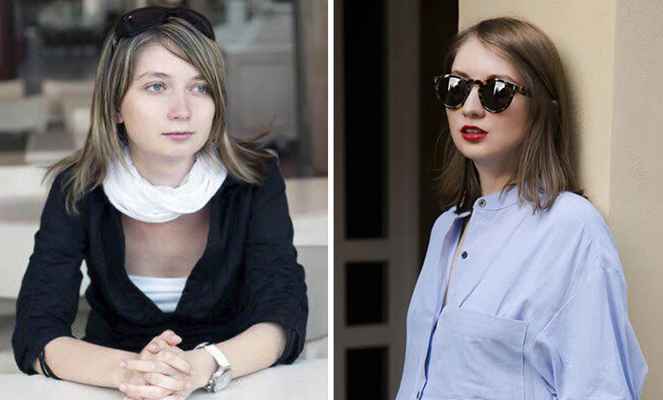Виктория Зеркал в школьном возрасте (слева) и сейчас