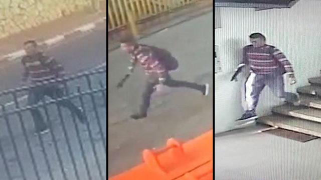 Footage of the 23-year-old terrorist