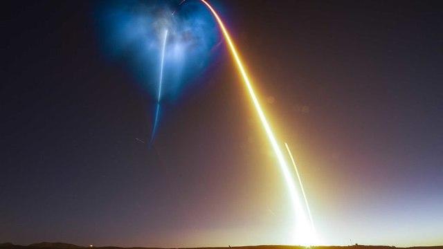 אחרי השיגור (צילום: תום קרוס, מתוך טוויטר)