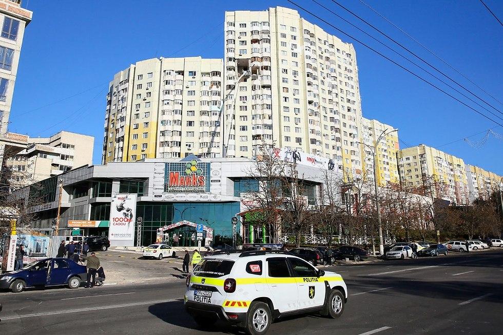 פיצוץ הגז שאירע במולדובה (צילום: EPA)