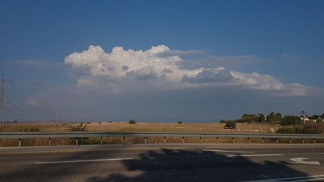 עננים ברמת הגולן (צילום: אחיה ראב