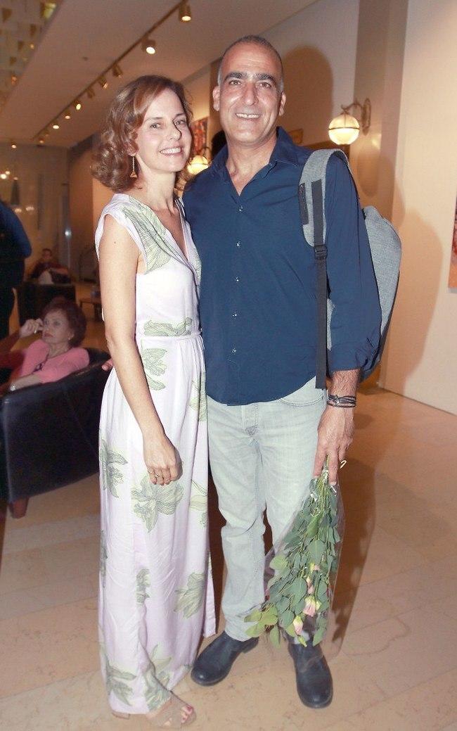 שחקן נשמה. יורם טולדנו ובת הזוג שחף דקל (צילום: ענת מוסברג)