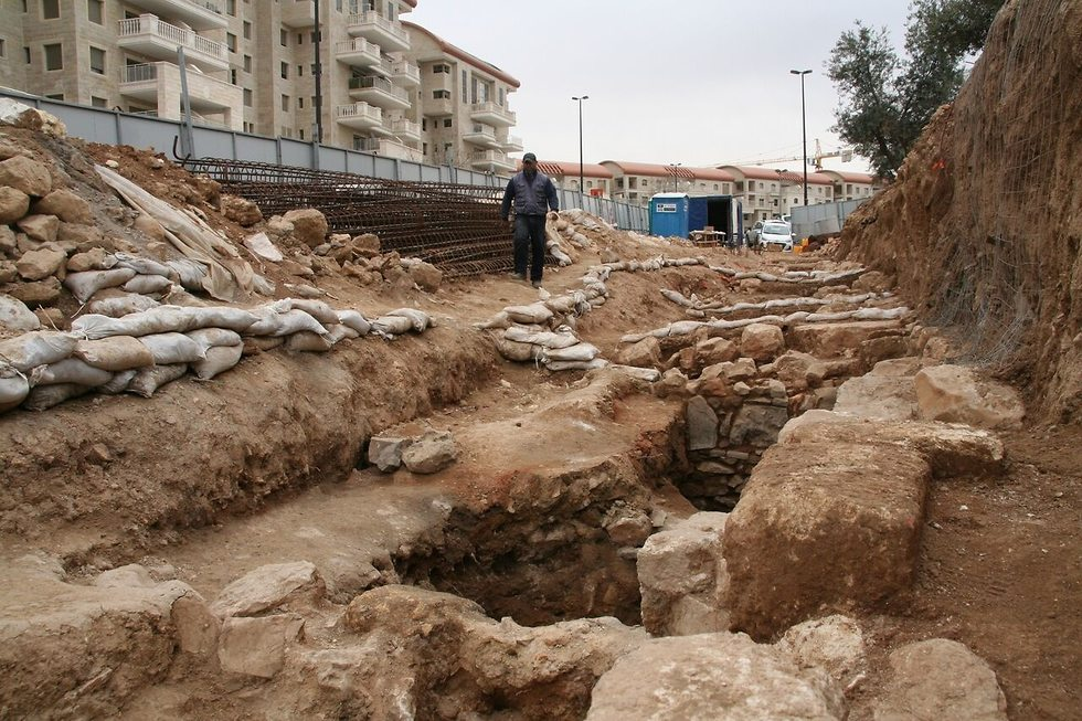 The excavation site at Binyanei Ha'Uma. (Photo: Yossi Schwartz, IAA)