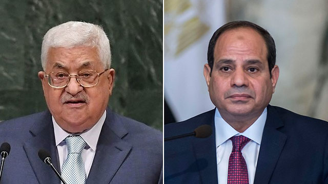 Palestinian leader Abbas; Egyptian President Sisi (Photos: AFP)