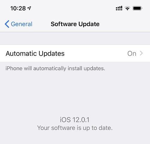 iOS 12.0.1 (צילום מסך)