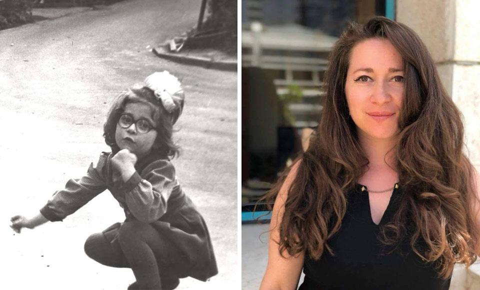 Лена Руссовская в детстве и сейчас (Фото: из личного архива)