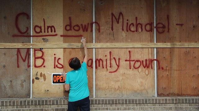 מחכים להוריקן מייקל (צילום: Getty Images)