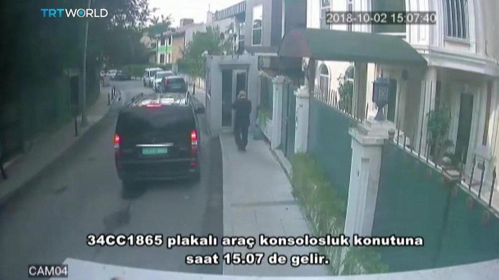 סרטונים ממצלמות אבטחה ב טורקיה היעלמות העיתונאי ה סעודי ג'מאל חשוקג'י סעודיה (צילום: EPA)