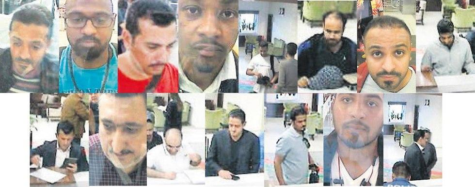 האזרחים ה סעודים ש מעורבים בהיעלמותו של ג'מאל חשוקג'י סעודיה קונסוליה טורקיה איסטנבול (צילום: EPA)
