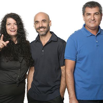 """עם החברים לסיעה. עו""""ד אמיר בדראן, אסף הראל, ושולה קשת"""
