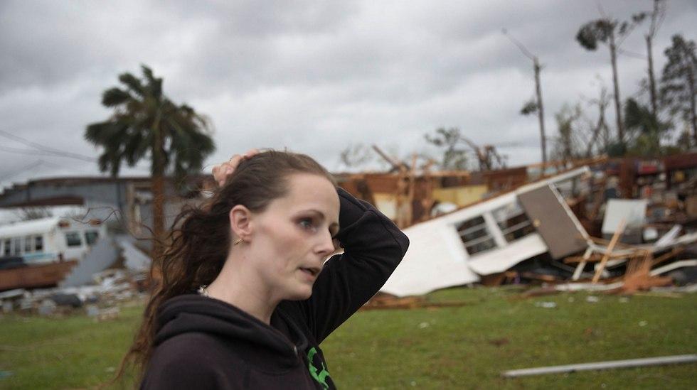 הסופה מייקל מכה בפלורידה  (צילום: Getty)