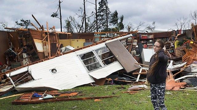 הסופה מייקל מכה בפלורידה  (צילום: AFP)