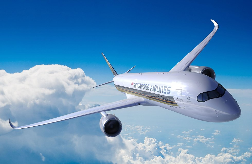 מטוס איירבוס A350-9OOULR סינגפור איירליינס (צילום: AFP PHOTO / Singapore Airlines)