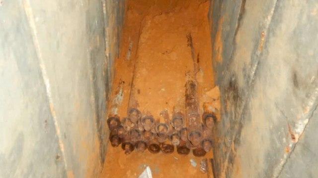 מנהרת טרור שנמצאה בשטחי ישראל (צילום: דובר צה