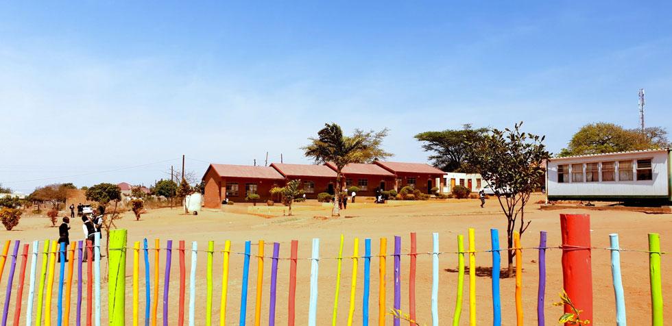 מבנה בית הספר בו ביקרתי בדרום אפריקה