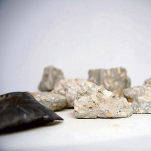 """""""מדף הגביעים"""" במעבדה: אבן מכל מנהרה שחשפו"""