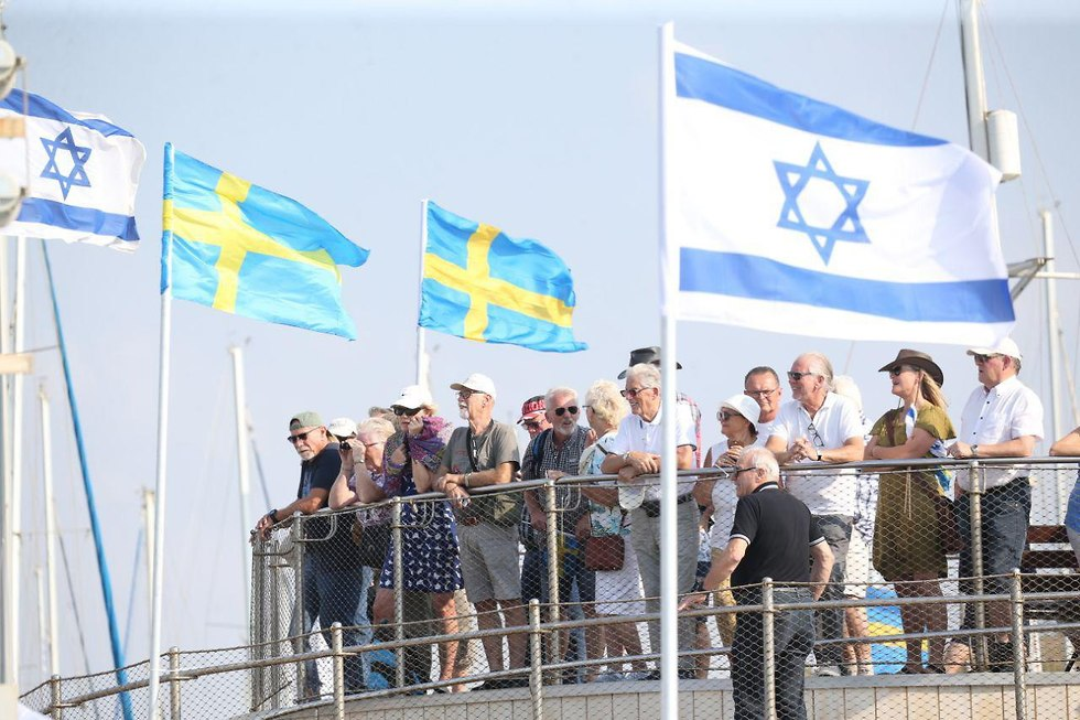 Swedish solidarity vesse3l arives at Israeli shores (Photo: Motti Kimchi)