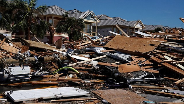 נזקים אחרי סופה הוריקן מייקל פלורידה ארה