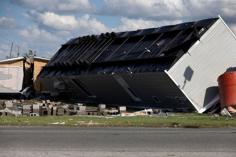 נזקי ההוריקן מייקל בפלורידה (צילום: רויטרס)