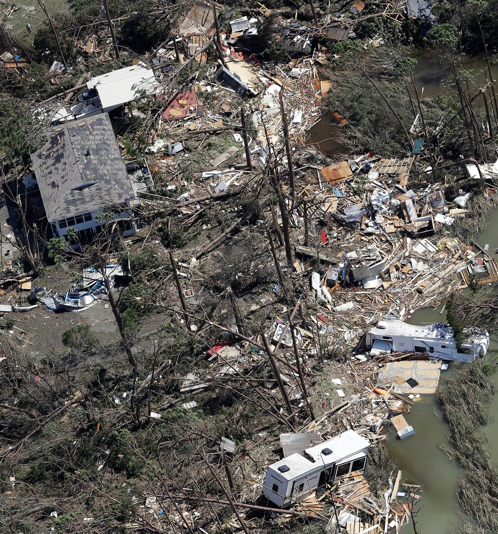 נזקי ההוריקן מייקל בפלורידה (צילום: Getty Images)