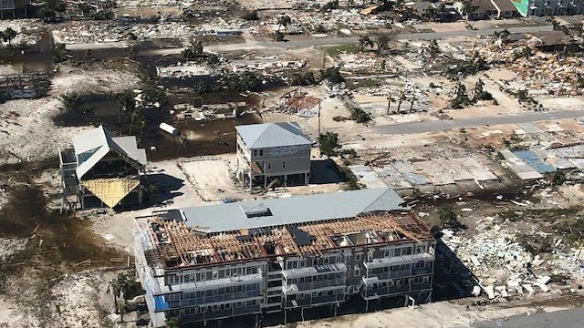 נזקי ההוריקן מייקל בפלורידה (צילום: AFP)