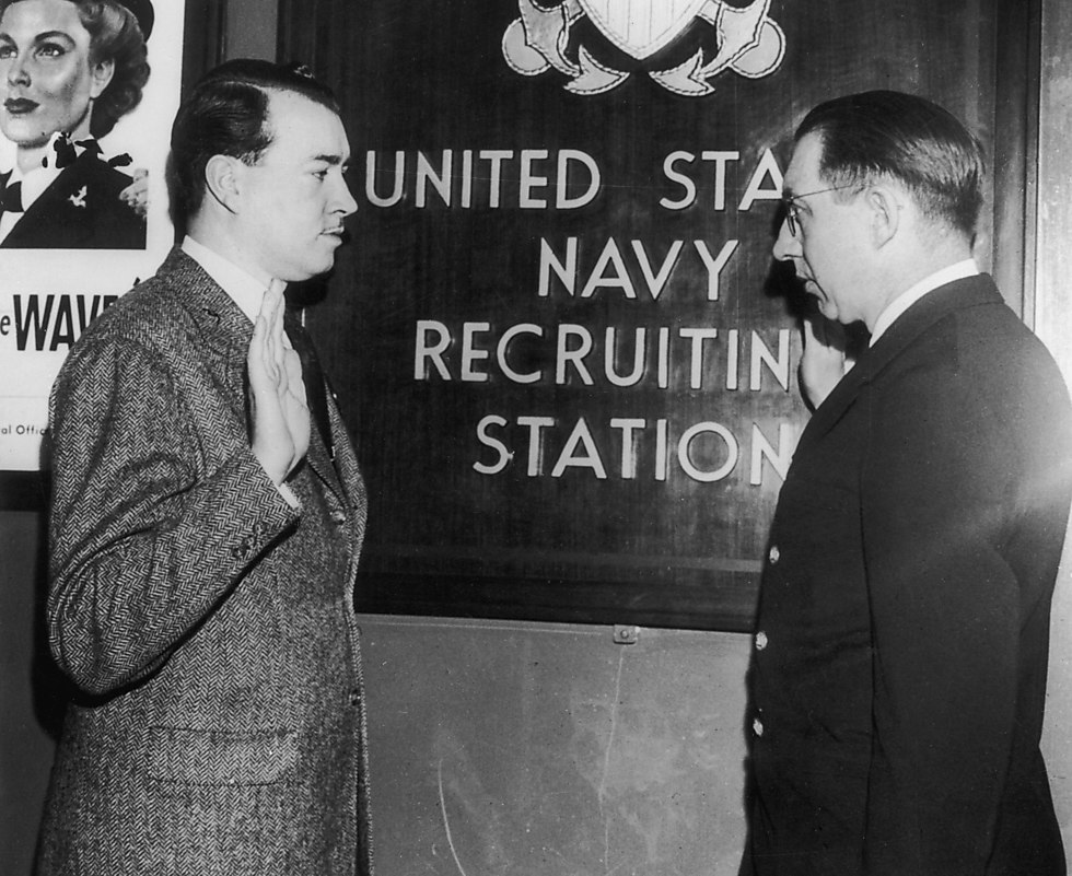 William Patrick Hitler being sworn-in to the US Navy. (Photo: Getty Images)