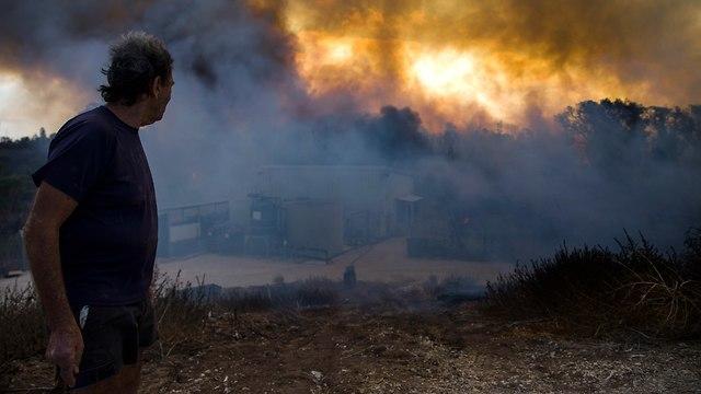 Fire in the Gaza border region (Photo: AP)