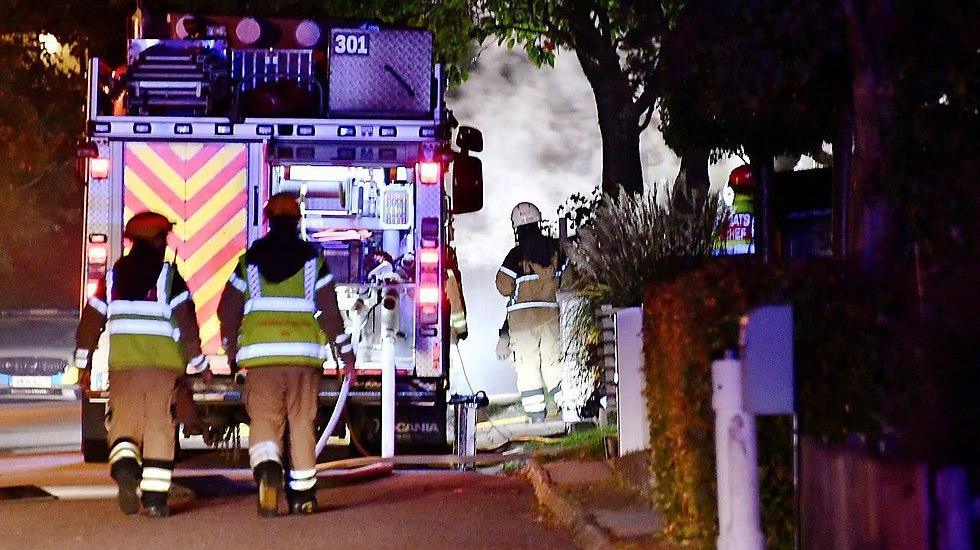 השריפה בעיר לונד, שוודיה (צילום: פטריק פרסון, sydsvenskan.se)