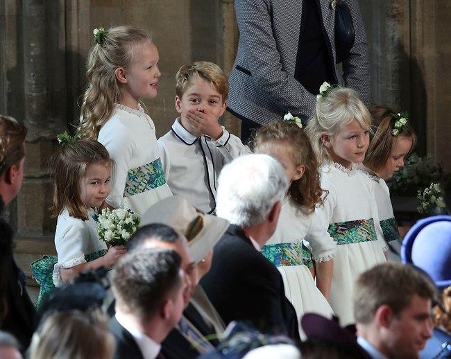 לא יפה לצחוק על בת דודה של אמא! הנסיך ג'ורג' שוב גונב את ההצגה (צילום: AP)
