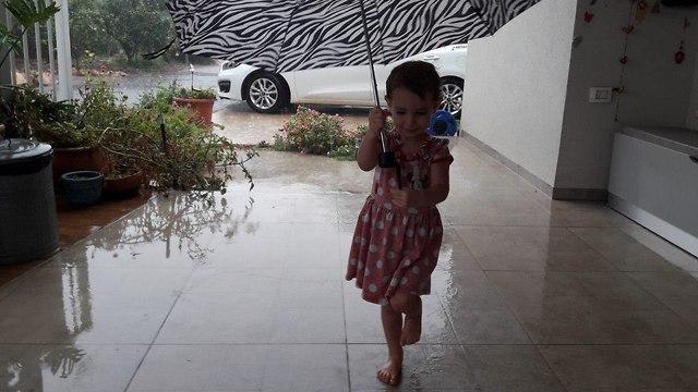 ברד גשם ב קיבוץ יפתח צפון (צילום: ענת זיסוביץ')