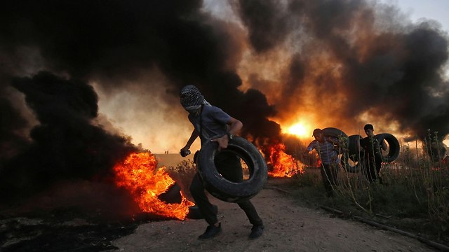 Clashes on the Gaza border (Photo: AFP)