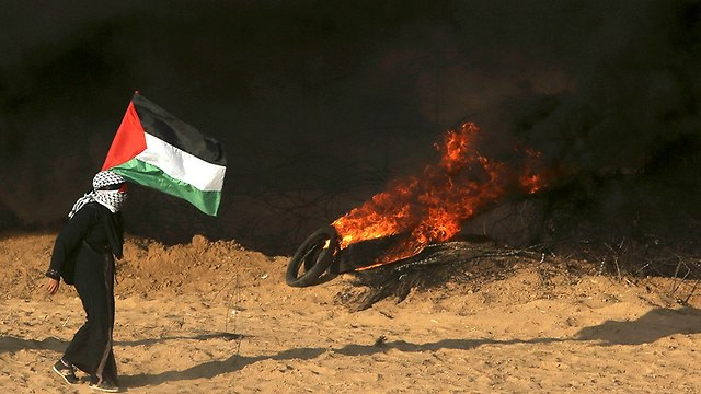 Gaza border riots (Photo: AP)