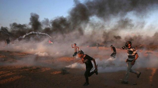 Friday's disturbances alsong Gaza border (Photo: AP)