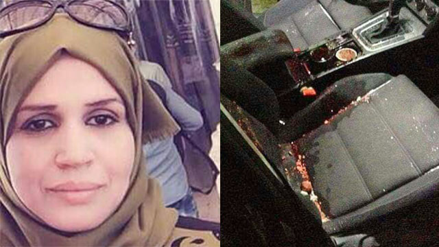 Aisha al-Rawbi; the passenger seat where she was when the rock hit the windshield