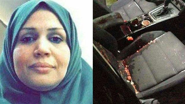 רכבה של האישה הפלסטינית שנהרגה ()