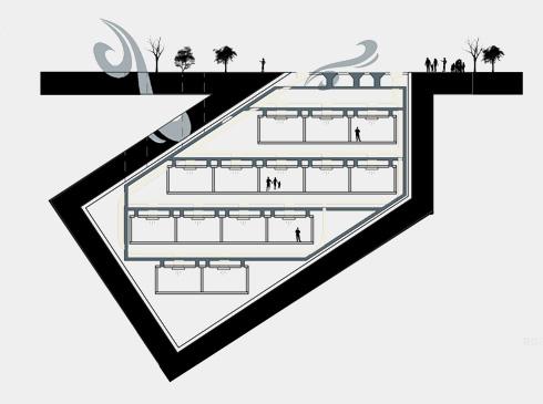 ''באר אור'', מתוך פרויקט הגמר של מלכי קסלר (תכנון: מלכי קסלר)