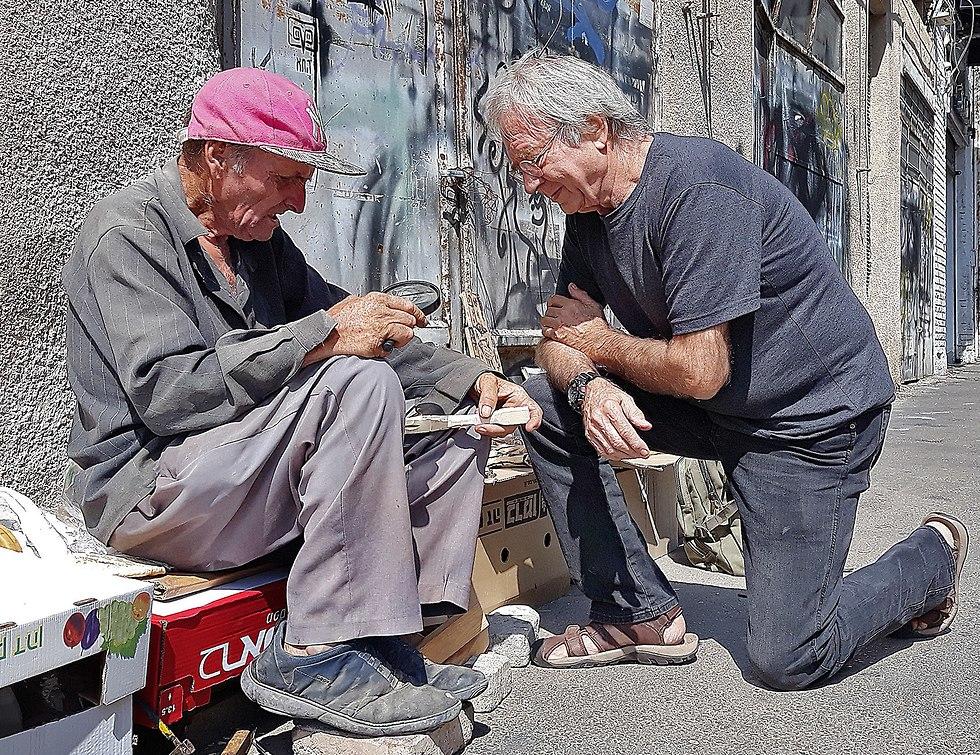 שוקי קוק ומתי כהן (צילום: בעז פסטרנק)