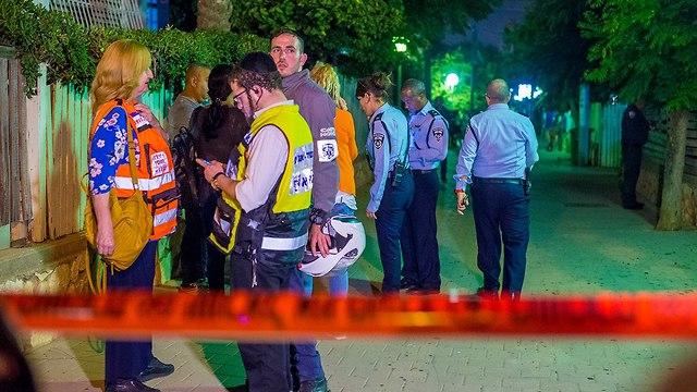 זירת רצח בנתניה (צילום: יובל חן)