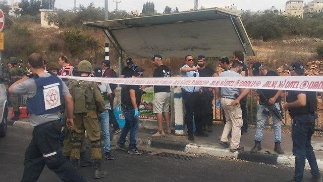 Terror attack in Gitai Avishar Junction  (Photo: Samaria Regional Council)