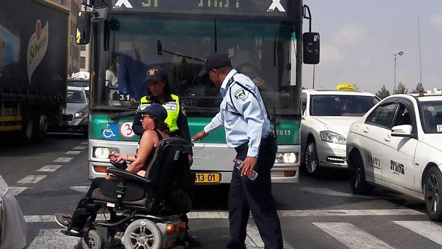 disabled protesters in the Knesset. (Photo: Elhanan Aharon)