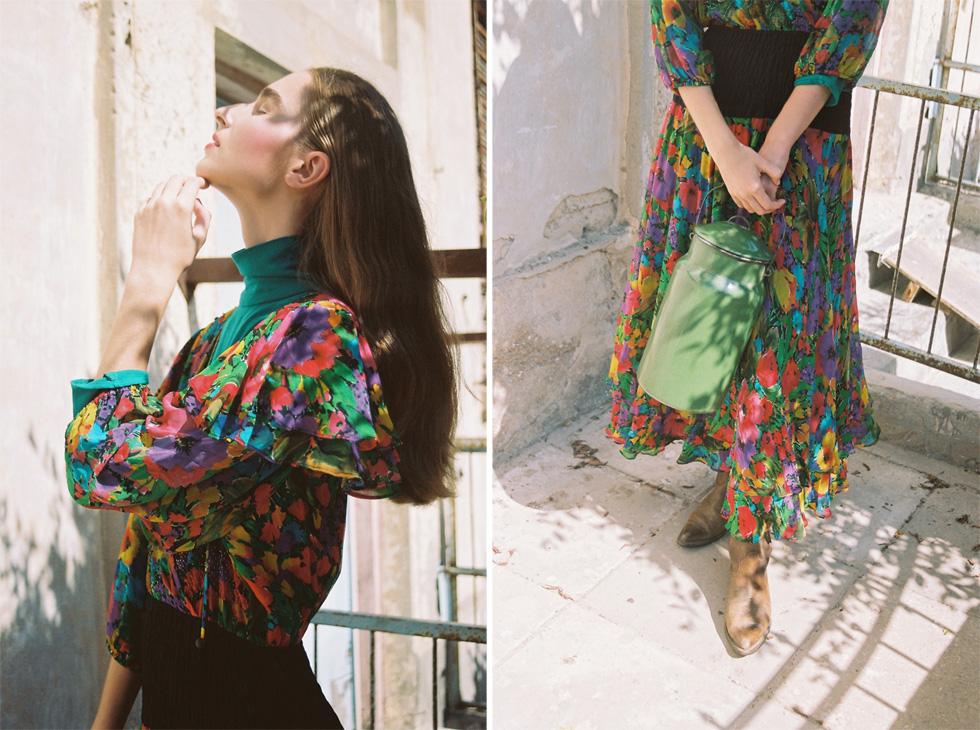 חולצה ושמלה - בטי בארץ הווינטג'; מגפיים, seekers vintage (צילום: הילה כדי)