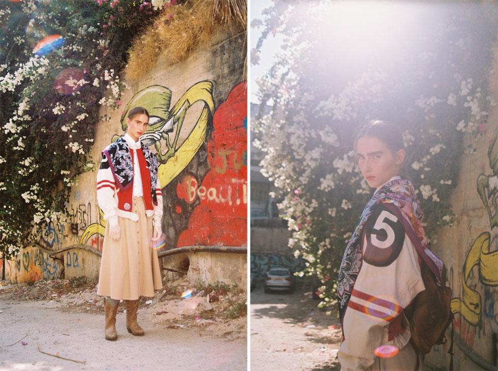 ז'קט, seekers vintage; חצאית, בטי בארץ הווינטג'; כפפות וצעיף - אוסף פרטי (צילום: הילה כדי)