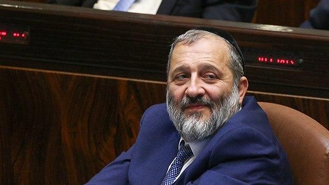 Shas Chairman Aryeh Deri (Photo: Ohad Zwigenberg)